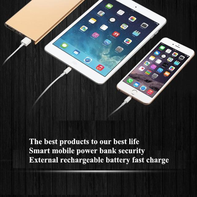 Efocus originais banco do poder 10000 mah power bank carregador portátil de bateria externa para telefones celulares samsung iphone lg e assim em