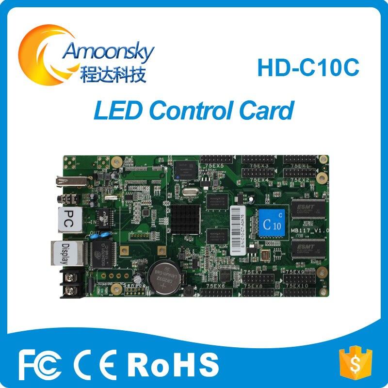 HD-C10C huidu полноцветный асинхронный светодиодная вывеска матрица контроллер для светодиодный экран открытый P4 <font><b>P8</b></font> P10