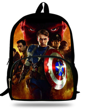 2018 Newest Mochila Daily Backpack  Iron Man Captain USA Printing Children School Bags Boys Teenage Girls Casual Backpacks 2018 newest backpack overwatch hot pc game trecer reaper printing children school bags boys teenage girls casual backpacks