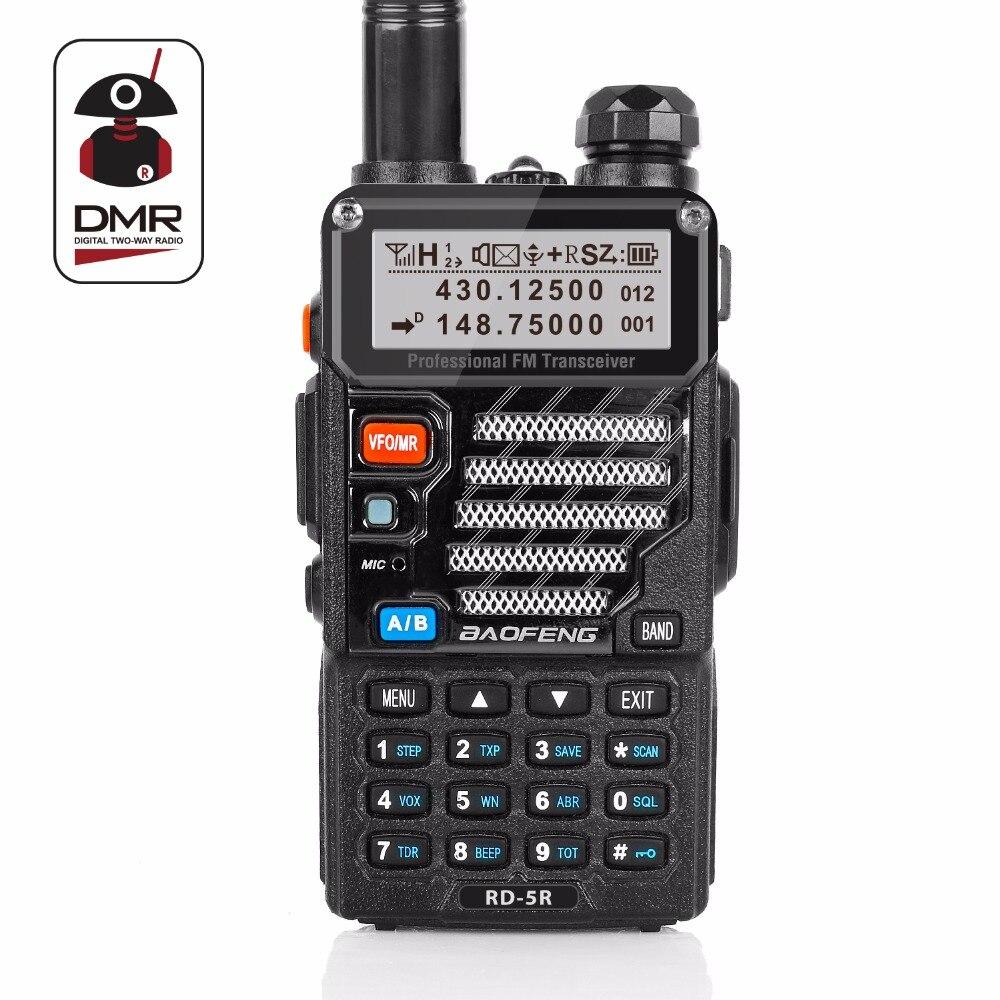 Baofeng RD-5R DMR Tier II VFO Digital Dual Band Dual Slot 136-174/400-470 MHz Zweiwegradio Walkie-talkie Schinken Transceiver