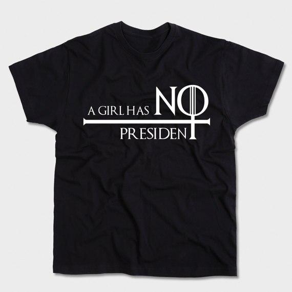Mädchen power Feministischen hemd Böse Plus größe shirts Mädchen hat keine präsident...