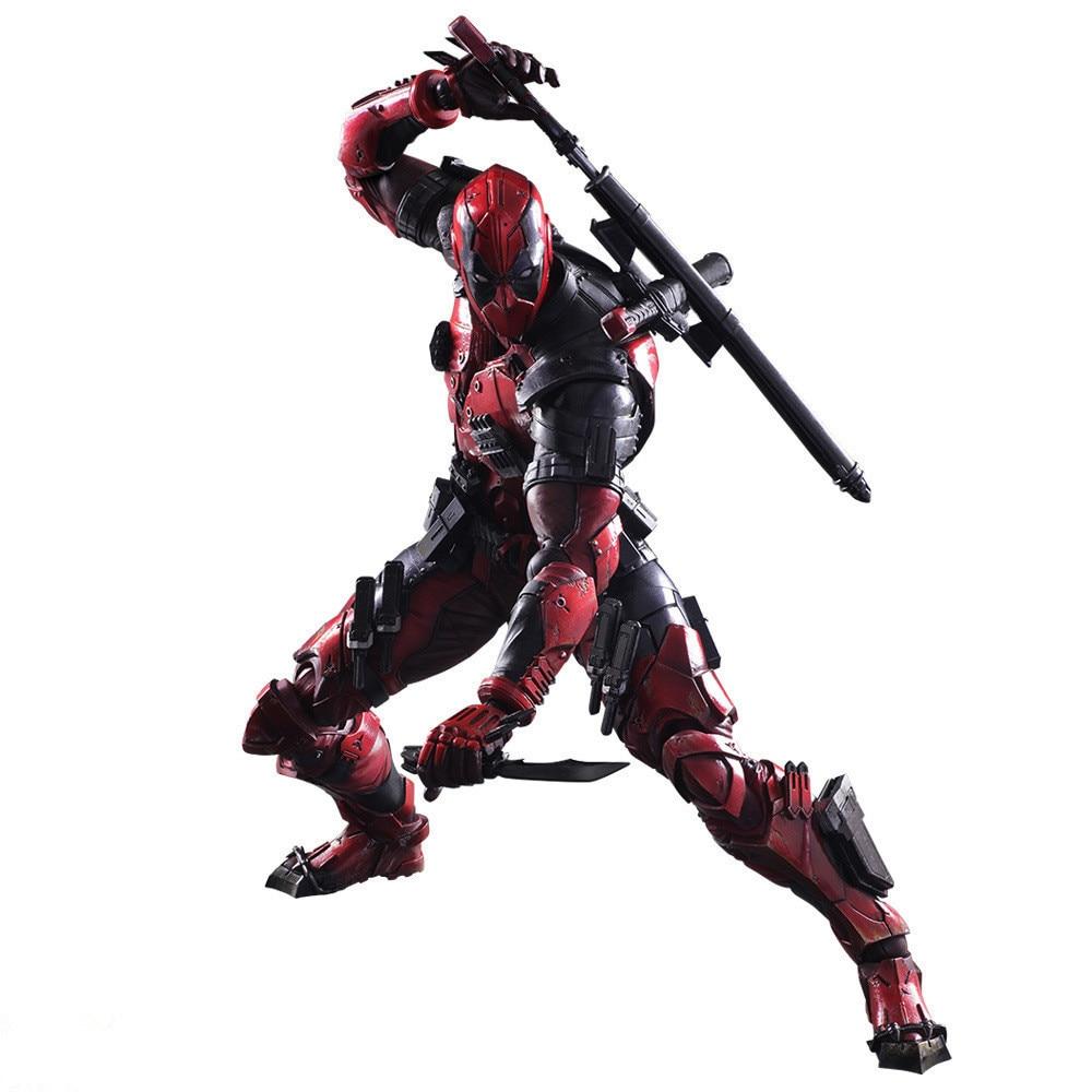 Фигурка Дэдпул Росомаха X men X men Play Arts Kai Deadpool Wade Winston Wilson играть арт Кай ПВХ фигурка 26 см кукла игрушка