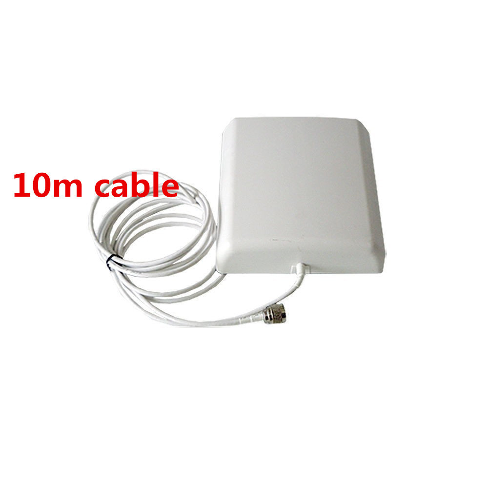 800MHz ~2500MHz 8dBi 2G / 3G CDMA / GSM / DCS / PCS / WCDMA Mobile Signal Booster Indoor Wall Panel Antenna With 10 Meters Cable