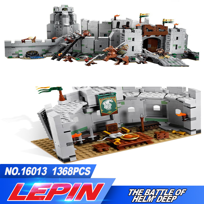 Lepin 16013 New 1368Pcs The Lord of the Rings Series The Battle Of Helm' Deep Model Building Blocks Bricks Educational Toys 9474 hot sale the hobbit lord of the rings mordor orc uruk hai aragorn rohan mirkwood elf building blocks bricks children gift toys