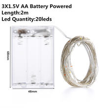Osiden 2 м струны медный провод 3xaa на батарейках украшение