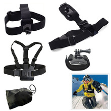 Head Chest Belt Wrist Bag Single Shoulder Strap For SJCAM SJ4000 SJ5000X Elite M10 M20 Xiao Yi EKEN H9 Gopro Accessories Sets