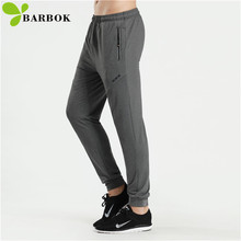 BARBOK Tight Sports Pants Men Jogger Fitness Elastic Breathable Tracksuit Thin Running Gym Sportswear Casual Sweatpants Trousers