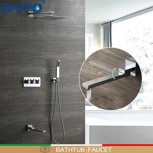 Image 1 - GAPPO shower faucet concealed shower mixer rainfall massage showers bathroom shower bath sets system bathtub faucets