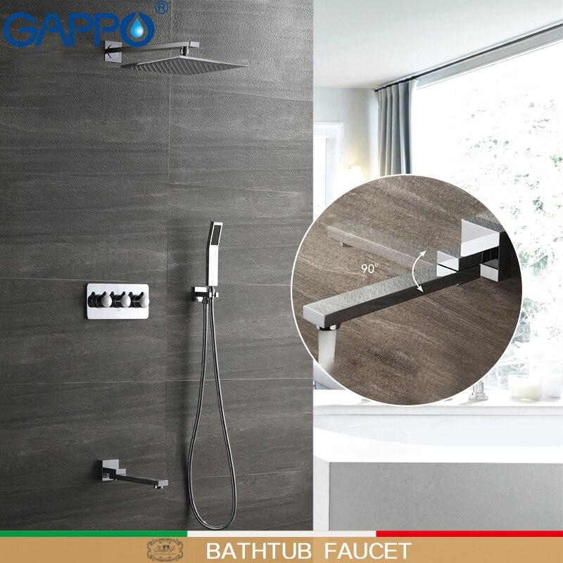 GAPPO torneira do chuveiro misturador do chuveiro escondida chuvas chuveiros de massagem sistema de conjuntos de banho de chuveiro do banheiro torneiras da banheira