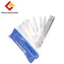 0.01 To 2mm 21 Blades Feeler Gauge High Strength Metric Stainless Steel Thickness Gap Metric Filler Feeler Gauge Measure Tools