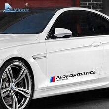 Rendimiento de velocidad Puerta Del Coche Pegatinas para BMW E90 F10 F20 F30 E36 E46 E39 E60 X5 Edición Limitada de Etiquetas Del Coche de la Puerta Lateral Styling