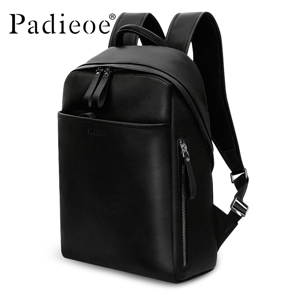 Padieoe Genuine Leather Backpack For Man Real Cowhide Large Male ...