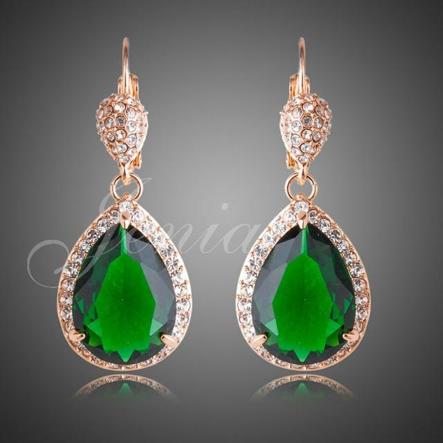Jenia gorgeous teardrop chandelier earrings cut green cubic jenia gorgeous teardrop chandelier earrings cut green cubic zirconia earring for women xe031 mozeypictures Choice Image