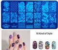 1 pcs 18 choices DIY Manicure Printing Template Blue Film Nail Printing Manicure Template Stamping Image Transfer Tools