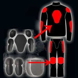 Image 5 - 乗馬部族夏/冬 moto rcycle 通気性メッシュ moto 保護ジャケット男性の反射レース moto ジャケットジャージパンツ