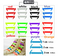 12pcs/set 2016 new shoelaces design lock flat lazy no tie shoelace elastic silicone shoe laces all sneakers fit strap B1
