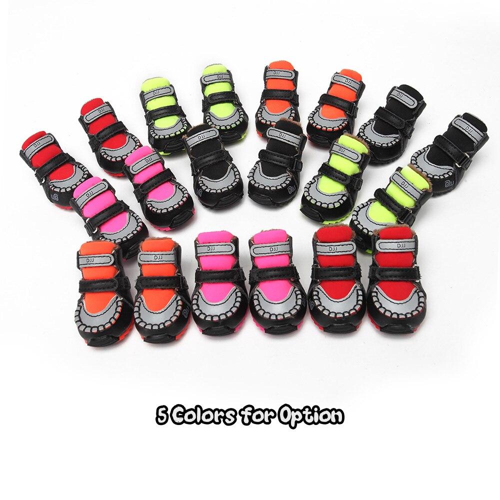 4 pièces chaussures pour chien de compagnie printemps automne Style chien chaussures de sport chaussures de loisirs pour caniche Standard Schnauzer chiens de petite race