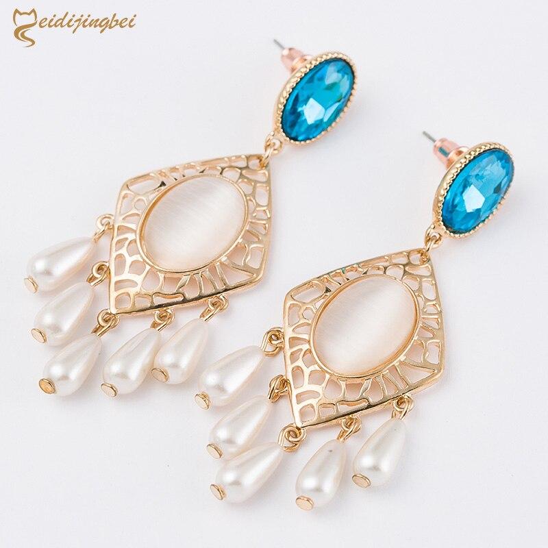 Pendientes Mode Imité Perle Boucles D oreilles Pour Les Femmes Brinco Bijoux  Déclaration Cristal Boucles D oreilles Or Boucle d oreille d70f0b79ca3
