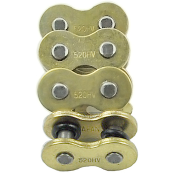 LOPOR 4 sztuk dużo 520H 520 łańcuch ogniwo główne W O-pierścień uszczelniający dla Honda motocykl suzuki motor terenowy atv quad złoty tanie i dobre opinie 520Hx4 Zestawy łańcuchowe 4 pcs