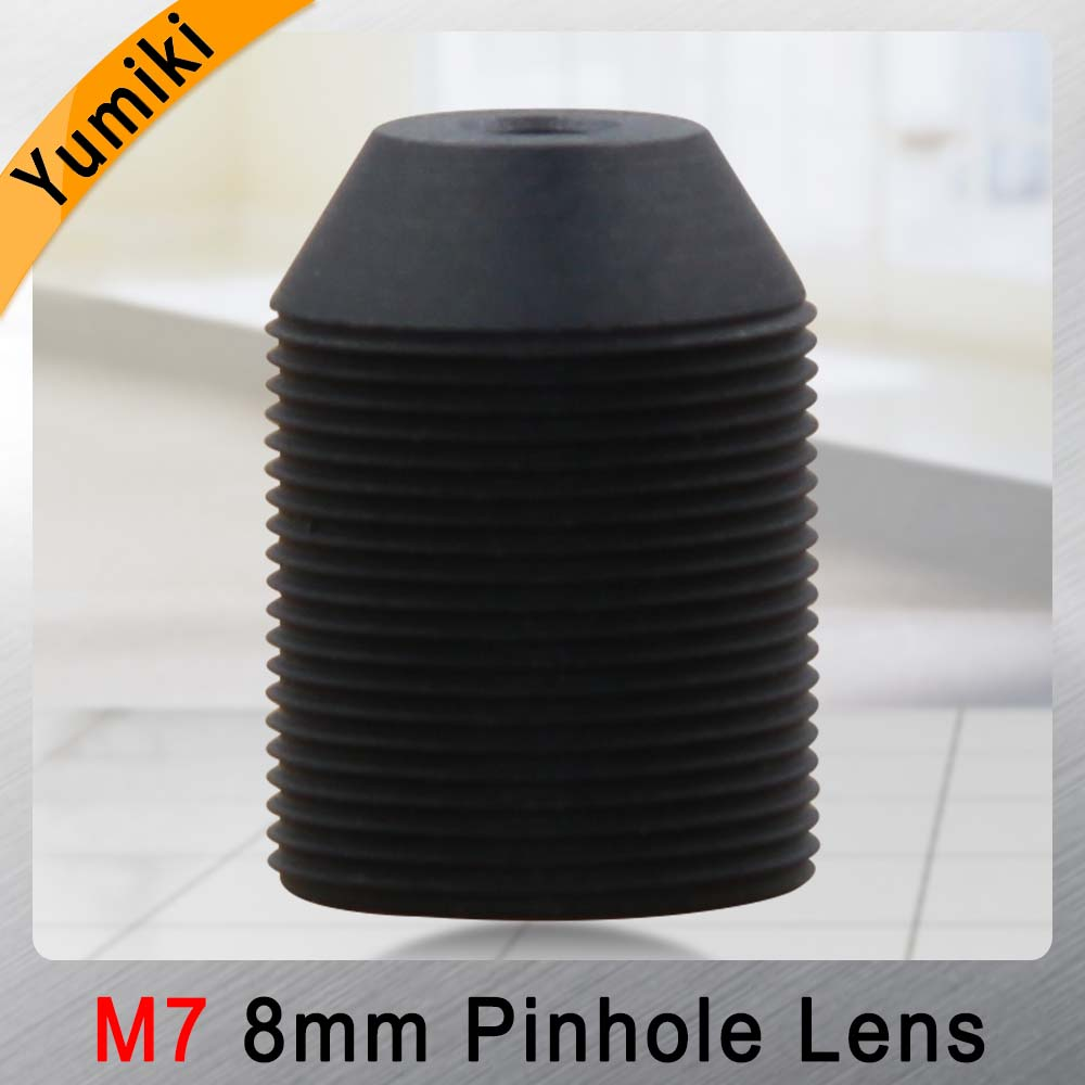 Yumiki CCTV Lens 1.3MP 1/3 HD 8mm Pinhole Lens  Surveillance Camera 45 Degrees Infrared M7 Lens Thread