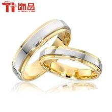 Бесплатная Доставка Супер Дело Размер Кольца 3-14 Титана Женщина Мужчина обручальные Кольца Кольца Пара, может гравировки (цена указана за одно кольцо)(China (Mainland))