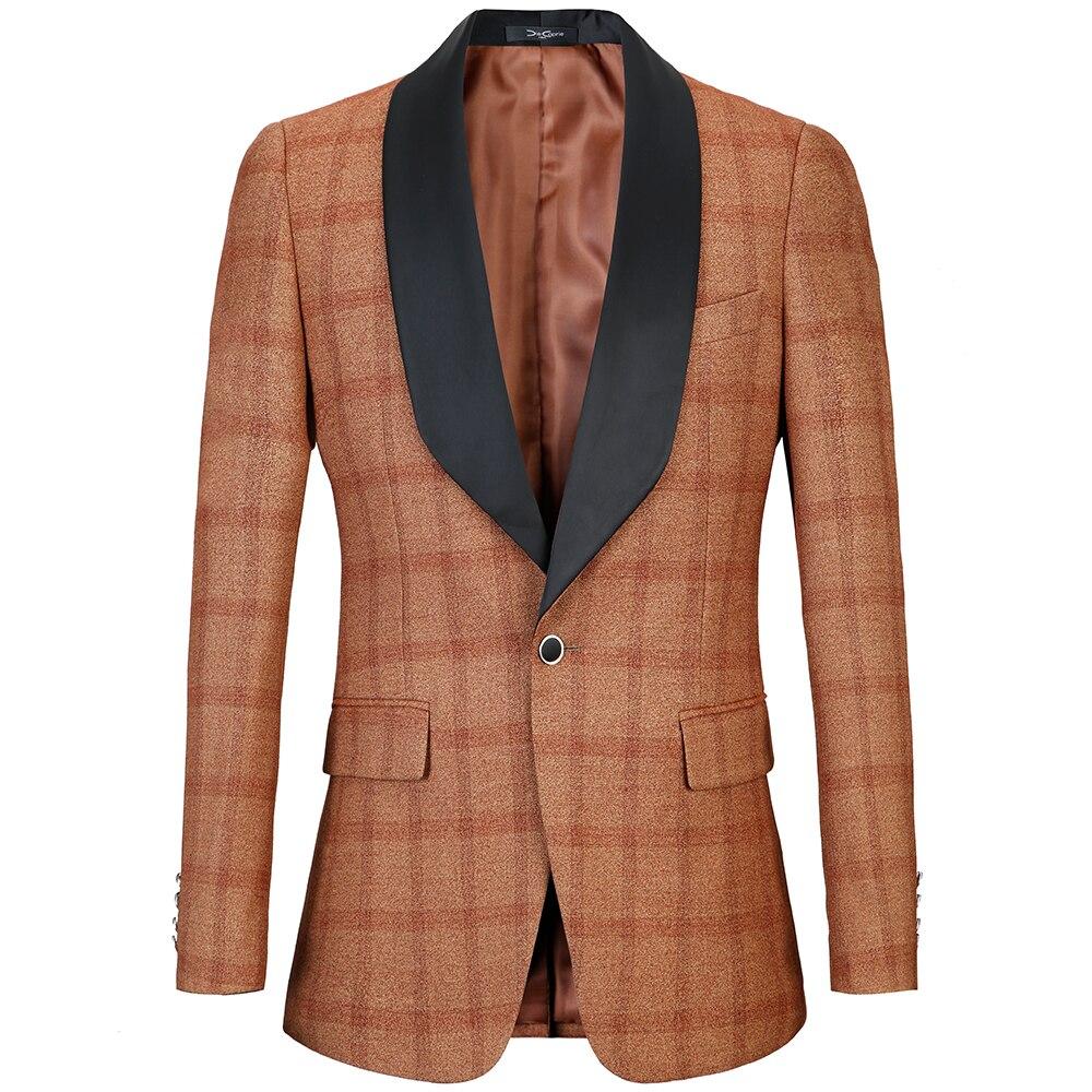 Luxury brand Men Jacket Slim Fit 2018 New Male Banquet Suits Jackets Plus Euro size 58 Tuxedo Wedding Suit plaid Blazer ...