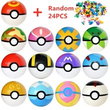 13 Pcs Pokeball + 24 Pcs Figure Giapponese Film & TV Action Figures Anime Giocattoli Master ball pet bambola pokebolas bambini Compleanni Regali