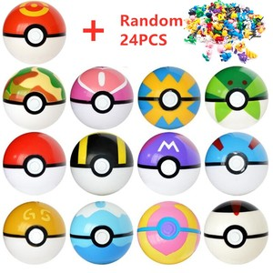 13 Pcs Pokeball+24 Pcs Figures