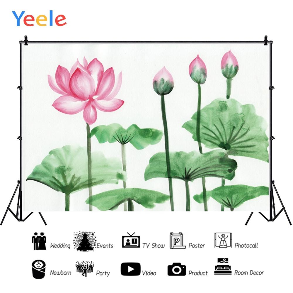 Yeele Summer Photocall Lotus Flowers Room Painting Photography Backdrops Personalized Photographic Backgrounds For Photo Studio in Background from Consumer Electronics