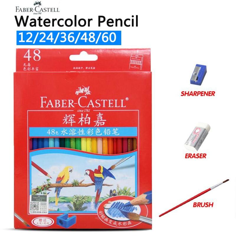 Faber Castell 72 colores Lápiz de color de agua Pintura de estudiantes Lápiz de color de acuarela para dibujar Bocetos Lapices De Colores