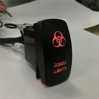 IZTOSS Laser Red Led On Off Rocker Switch 20A 12V Zombie Light Light Switch 5 PINS