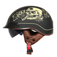 Cruiser Motorcycle Helmet Harley Open Face Half Vintage Helmet T553 Moto Casque Casco Motocicleta Capacete DOT