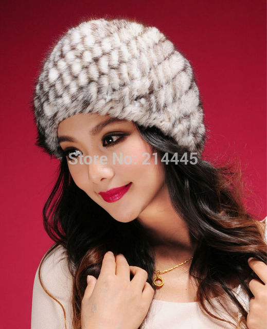 Piel de Visón Auténtico Sombrero Casquillo caliente Naturaleza Knit de Piel de Visón Sombrero de las Mujeres de Invierno Sombrero Envío Gratis JN016