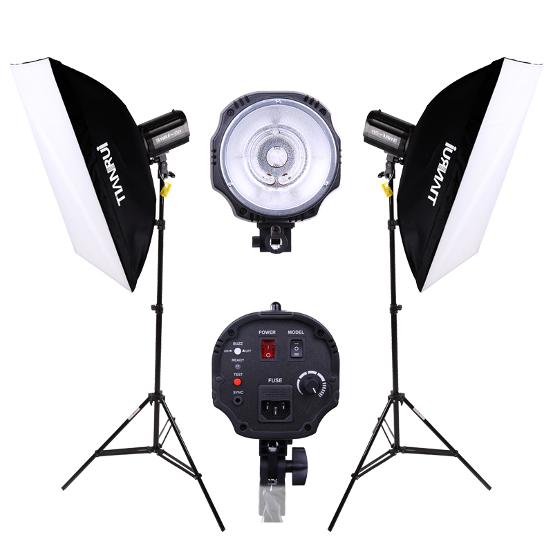 DHL FREE SHIPPING 220w studio flash lamp holder photography light equipment 2 set Photo Studio Strobe