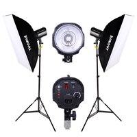 DHL FREE SHIPPING 220w studio flash lamp holder photography light equipment 2 set Photo Studio Strobe Flash Lighting Lamp Light