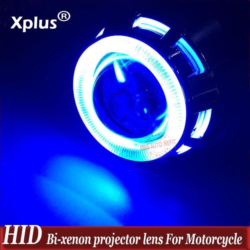 2 inch High/Low Hid Bi Xenon Projector Lens Headlight Kit CCFL Devil Eye For Motorcycle For Car Headlight HID Headlamp цены