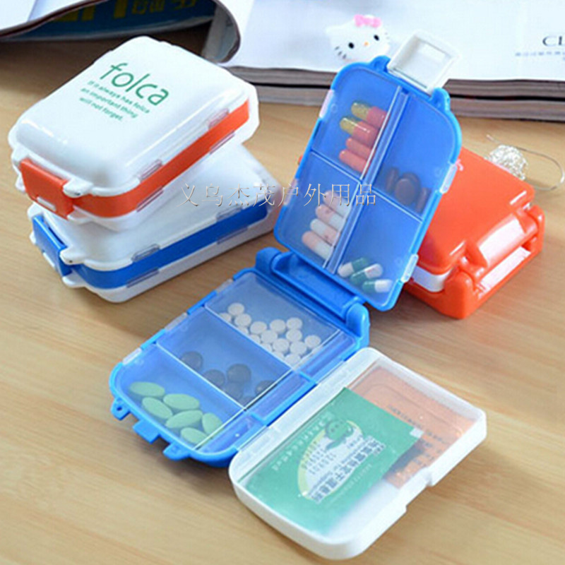New Foldable Emergency Box Portable First Aid Kit Travel 8 Lattice Small Medical Kit Home Mini Drugs Storage Bag