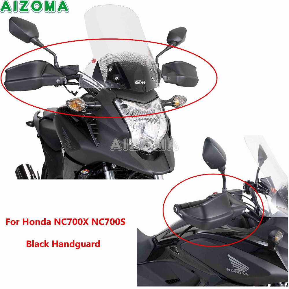 Motorcycle ABS Plastic Handguards w/Steel Bracket Black Hand Guard Kit Protector For Honda NC700X NC750S 2012 2017 Hand Cover