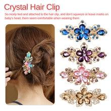 цены на Newest Flower Hair Barrettes 2019 Women's Fashion Full Diamond Crystal Hairpin Hair Clips Female Alloy retro style Headdress  в интернет-магазинах