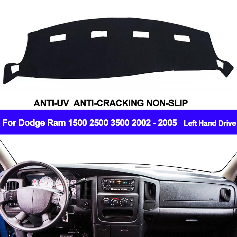 Car Auto Dashboard Cover Dashmat Pad Carpet Dash Cushion 2 Layers For Dodge Ram 1500 2500 3500 2002 2003 2004 2005 LHD Models