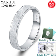 Sent Silver Certificate! Unique Scrub Rings Solid 925 Silver Gift Jewelry for Lover Engagement Wedding Rings For Women Men CR07 thaya facing the sea rings blue zirconia rings 925 silver jewelry for women lover wedding gift