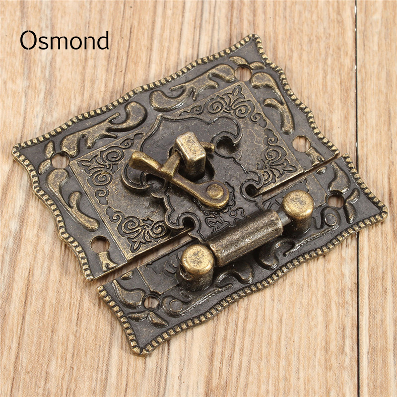 Osmond 5pcs/Sets DIY Bag Twist Lock Clasp Turn Lock Bronze Lock Box Suitcase Buckles Tone 5.1cm X2.9cm Closure Hasp With Screws