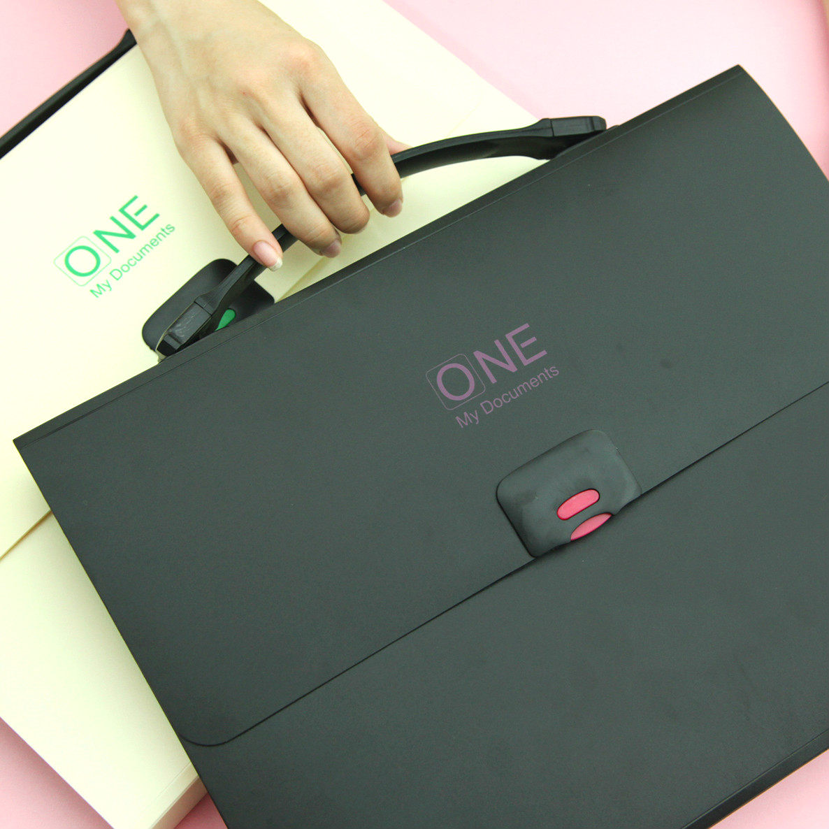 Multifunctional A4 Thickening Organ Bag Document File 12-grid Portable Multilayer Folder Expanding Wallet  Office Briefcase