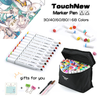 TOUCHNEW 168 Colors Art Marker Double Headed For Artist Manga Graphic Coloring