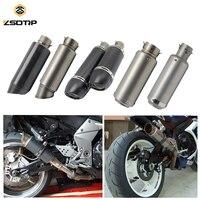 ZSDTRP 51/61mm Motorcycle Exhaust Muffler SC GP Escape Exhaust Mufflers Carbon Fiber Exhaust Pipe For KAWASAKI HONDA BMW KTM