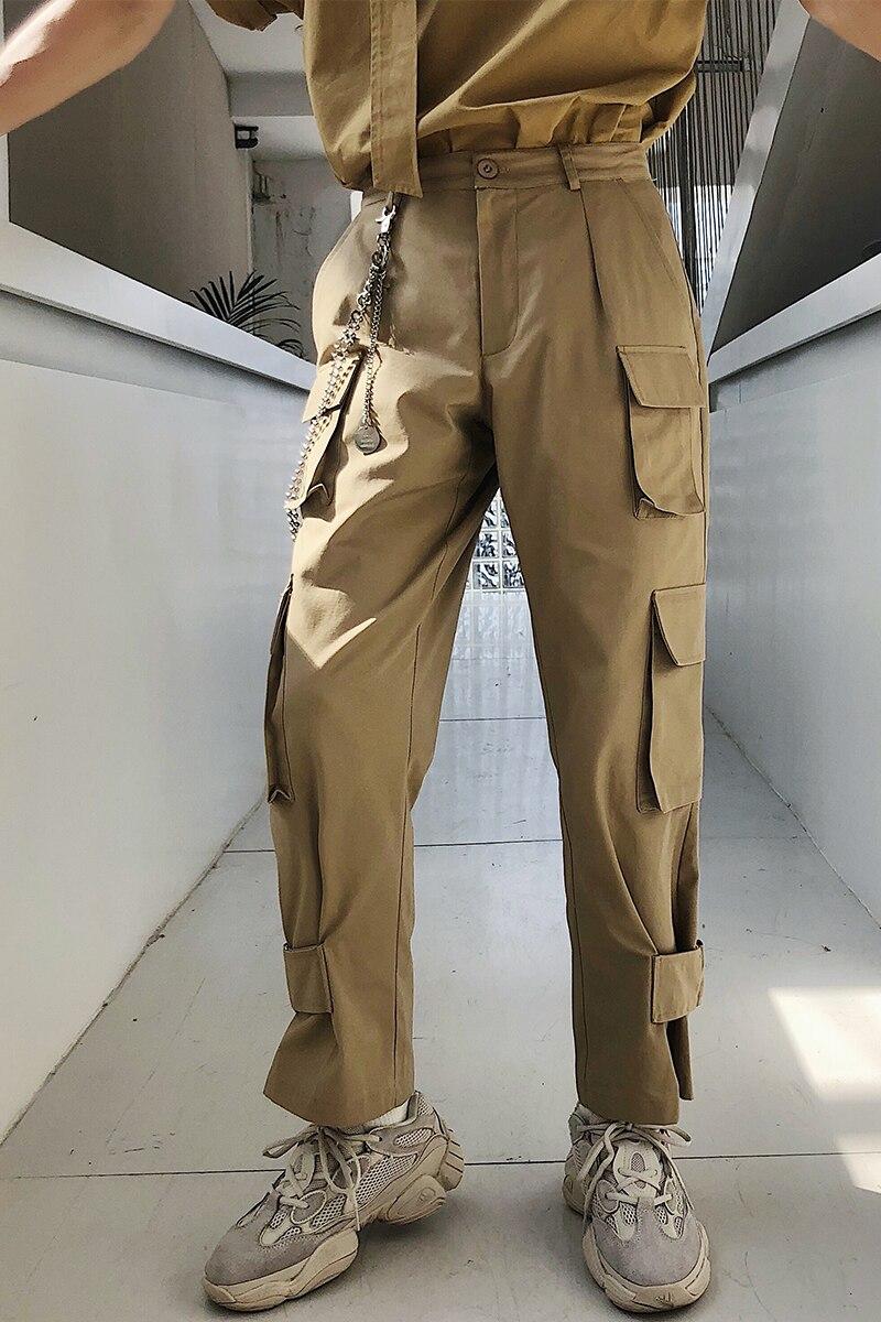 Ropa Verano Casual Caqui Multi Rectos 2018 Estilista Nuevos Bolsillo Moda Trajes Pantalones Hombres Gd qwaFREFYx