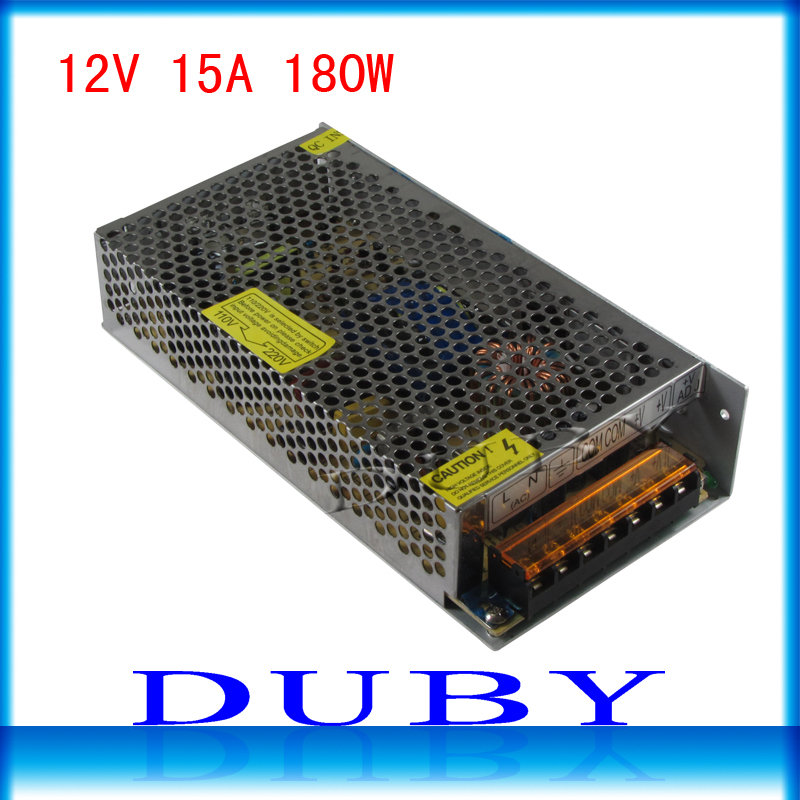 цена на Big Volume 12V 15A 180W Switching power supply Driver For LED Light Strip Display AC100-240V  Factory Supplier  Free Shipping