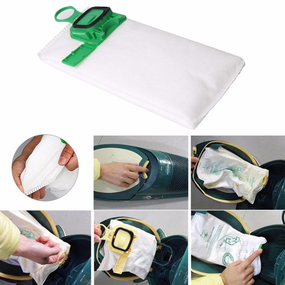 1 PC Microfibre Cloth Dust Bag For Vacuum Cleaners Vorwerk Kobold VK140 VK150 6pcs high efficiency dust filter bag replacement for vk140 vk150 vorwerk garbage bags fp140 bo rate kobold vacuum cleaner