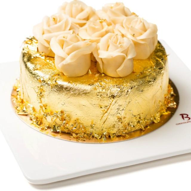 Gold Edible Glitter for Cake Decoration 24K Genuine Food Gold Leaf Edible Gold Leaf Sheet Paper Food Cake Decoration 4.3*4.3cm