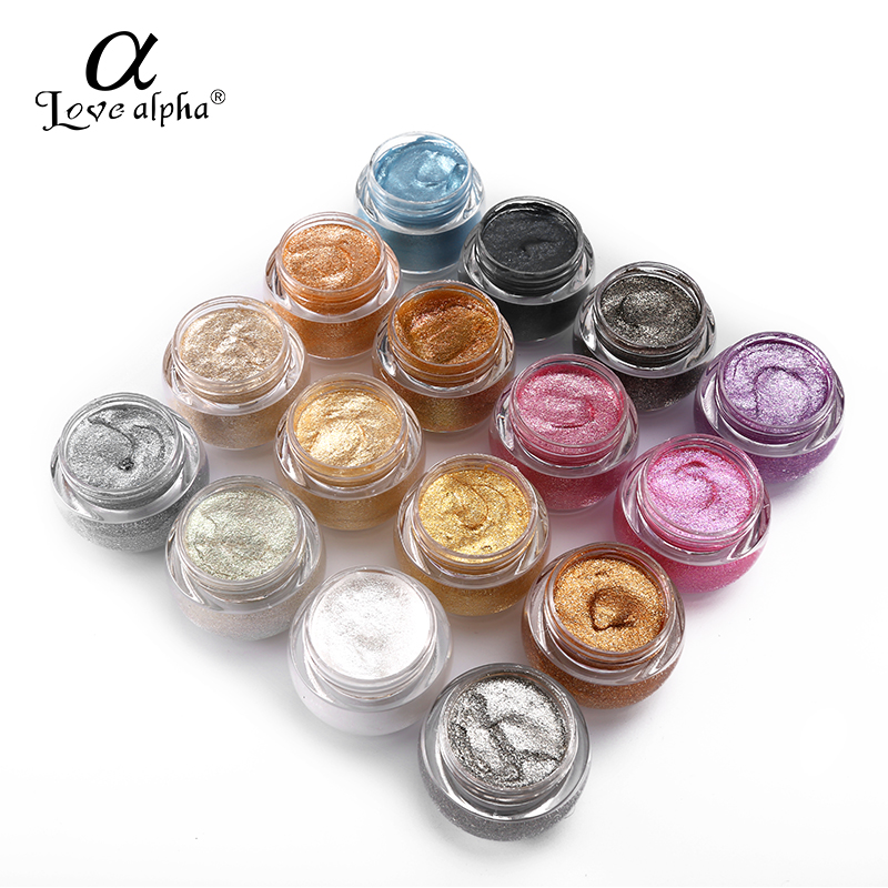 LOVE ALPHA 3D Glitter Eyeshaow Gel Metallic Powder Pigment Makeup 5 Option Perfume Cream Highlighter Shining